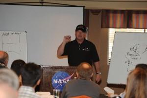 Frank Speaking at NASA